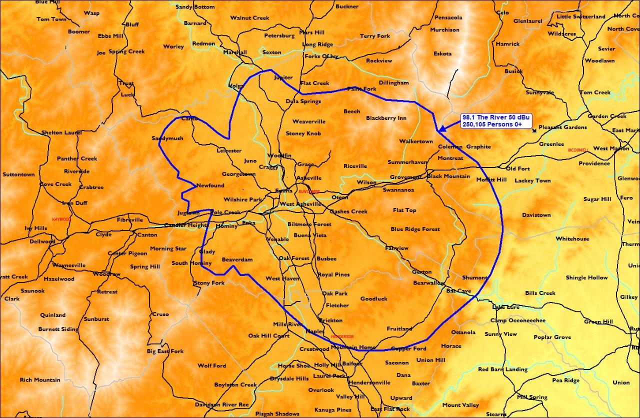 98.1 The River Coverage Map